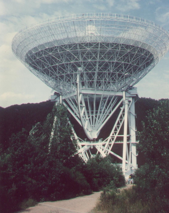 100m Effelsberg radio telescope, part of eVLBI network