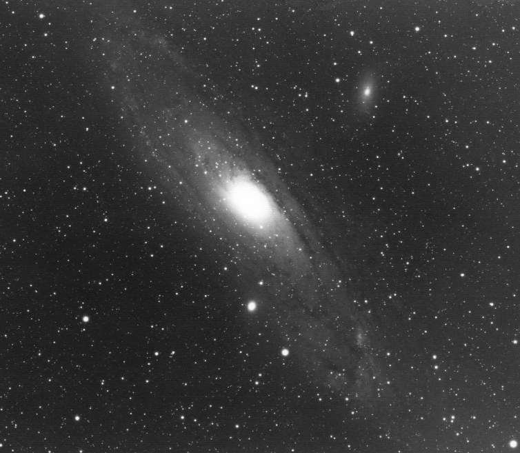 Blue-light photo of M31